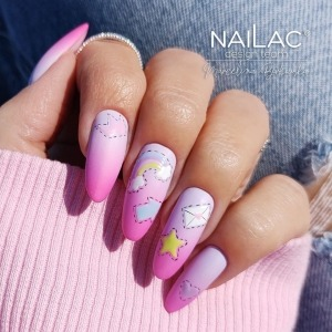 🌼Happy Sunday! 🌸 Let this #ombrenails nails fill you with humour throughout the rest of the day ☀️  #nailac #projectnailsuk #pinkombre #pinkombrenails #happynails #uknails #pinknails