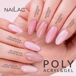 It cannot be hidden - time is money! 💸 The saved time is a great opportunity to accept more clients than before. 💅 If you are looking for a product that will give you such an opportunity and thanks to which you will save 50% of your working time, Poly Acryl & Gel is just for you! 💗   Available in six basic colours: #Powder Candy, #Powder Pink, #Powder Rose, #Powder Blush, #Sugar White, #Crystal Clear and in three shimmering colours: #Glamour Cover Pinky, #Glamour Cover Peachy, #Glamour  Cover Bling.   All of them will steal your heart and arouse admiration among your customers! ✨  ‼️ Attention: Poly Acryl & Gel in #Glamour Cover Peachy and #Glamour Cover Bling are products that contain a lot of particles and the material may discolour slightly under the influence of the sun; it is enough to protect the product with a top that contains a UV filter or UV Protector ‼️