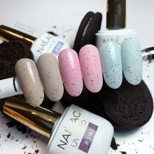 The most beautiful Cookies on the nails! 🍪  Pastel shades with tiny pieces of Chocolate Cookies #390, #391 and #392 NaiLac 🍪🍪🍪  Do you prefer them in a mat or in a gloss? 💗   ✨ See the entire collection of Cookies gel polishes here: https://projectnails.co.uk/233-cookies-collection  #manicure #fyp #projectnailsuk #nailsuk #coockiesnails #nailac #swarovskinails #pinknails #glitternails #blingnails #blingbling #uknails #uknailsupplies #gelnails #gelnailsdesign  #nailproducts #pastelnails