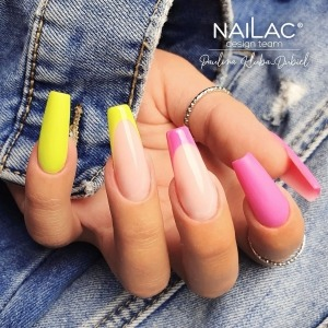 "Neon yellow #433 ☀️ and intense pink #436 💕 from the new ""Pastel VS Neons"" collection looks amazing in one set.  Spring 🌸, energetic and beautiful!   https://projectnails.co.uk/247-pastel-vs-neons  #projectnailsuk  #nailart #naildesign #presses #hybrydowelove #neonnails #nudenails #yellownails #pinknails  #summernails #springnails #uknails #nailac"