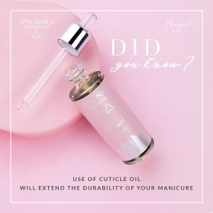 Did you know that by using a #cuticleoil you can extend the durability of your #manicure ? 💗💅  The oil will not only regenerate and moisturize the skin around the #nails 💦, but also has a positive effect on maintaining a fresh look of your manicure. By rubbing a small amount into the cuticles, you will extend the #beautiful appearance of your hands.  Try the beneficial power of our oils, which, in addition to beautiful scents, include: 💦 nourishing oils (jojoba, almond, sunflower), 💦 marigold and chamomile flower extracts, 💦 emollients.  Available in 15ml and 30ml   30ml ➡️ https://projectnails.co.uk/107-manicure-oil-30ml  15ml ➡️ https://projectnails.co.uk/106-manicure-oil-15ml